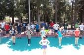 Готовимся к первым соревнованиям по черлидингу лагеря «Артек»!