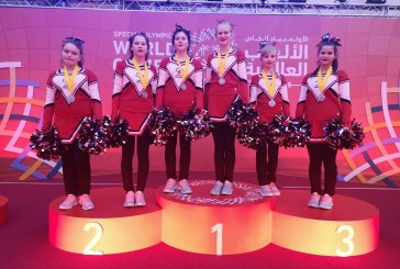Победа!!! Завершились первые соревнования по чир спорту (чирлидингу) в рамках Всемирных летних Специальных Олимпийских игр Abu Dhabi2019