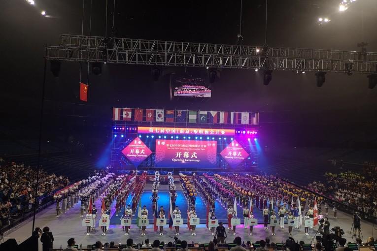 В Китае (г. Нанкин) состоялись седьмые открытые соревнования по чир спорту (чирлидингу).
