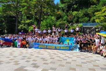 Российские чирлидеры из Приморья выступают на Международном Чемпионате в Корее